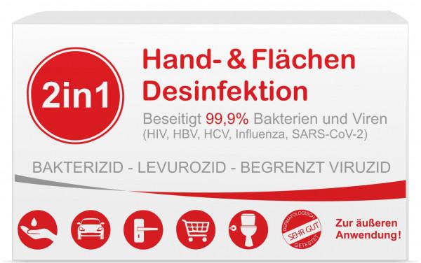 2in1 Hand-und Flächendesinfektion Box