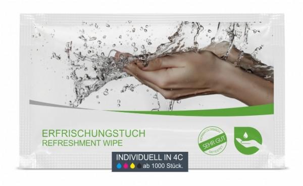 Erfrischungstuch inkl. 4C Digitaldruck