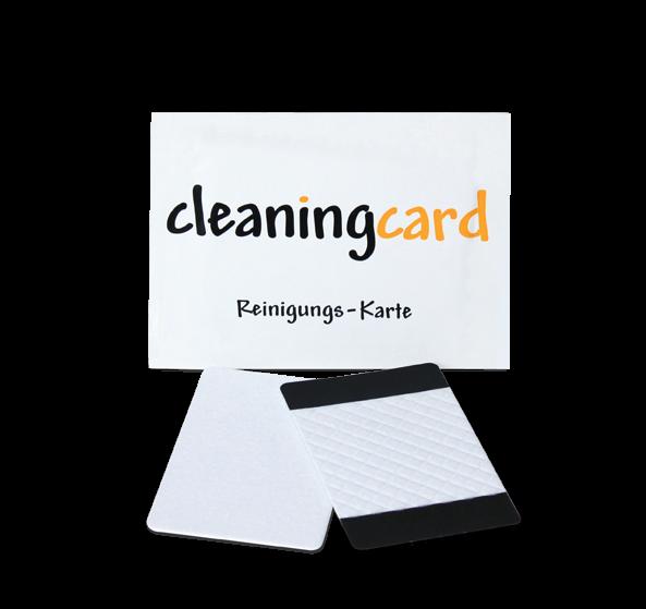 Reinigungskarte feucht - beflockt, kodiert