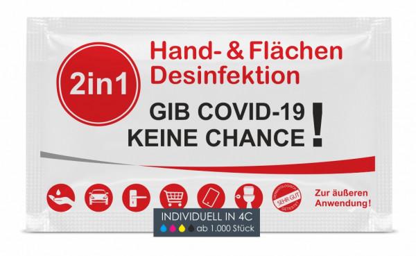 2in1 Hand- und Flächendesinfektion inkl. 4C Digitaldruck